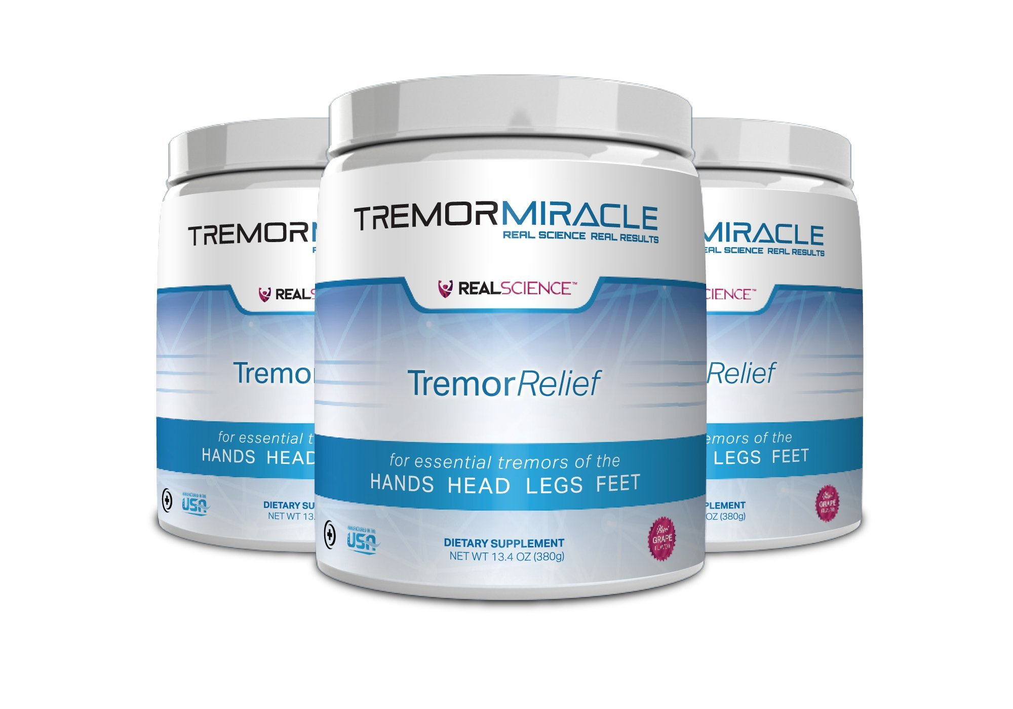 Tremor Miracle™ - Pack of 3 - Revolutionary Essential Tremor Supplement - Reduces Tremors & Shaking