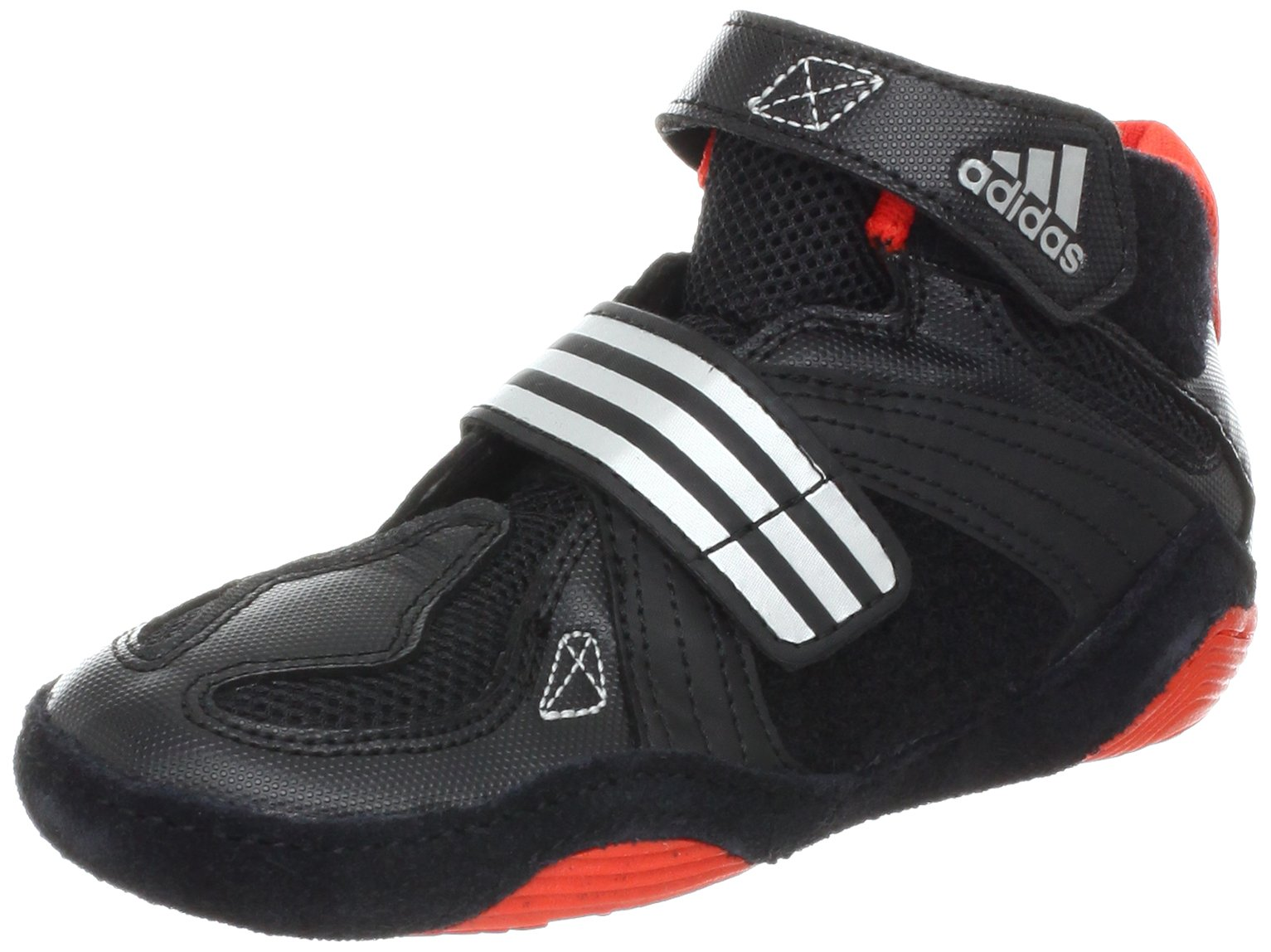 adidas Wrestling Extero II K Wrestling Shoe (Toddler/Little Kid/Bid Kid),Black/Core Energy/Metallic Silver,5.5 M US Big Kid by adidas
