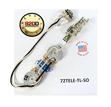 amazon com fender 72 thinline tele telecaster wiring harness solid rh amazon com Standard Telecaster Wiring Harness Telecaster Deluxe Wiring Harness