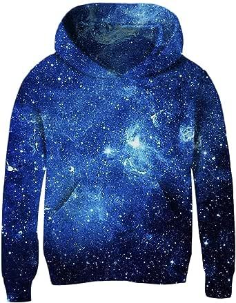 Kid Boy Girl 3D Print Galaxy Hoodie Coat Jacket Zip Sweatshirts Casual Overcoats