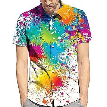 Amazon.com: Xlala camiseta para hombre de verano Rainbow ...