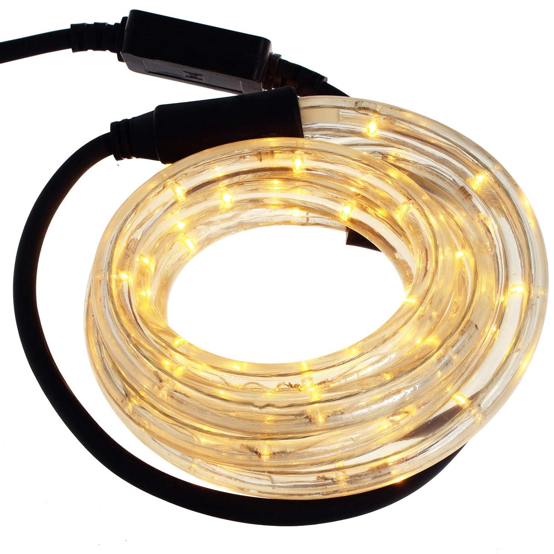 Smartfox LED Lichterschlauch Lichterkette Licht Schlauch 20m für Innen- und Aussenbereich mit 480 LEDs in Grün