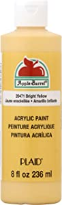 Apple Barrel Acrylic Paint in Assorted Colors (8 Ounce), 20471 Bright Yellow