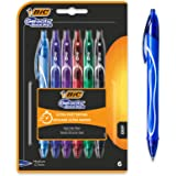 Bic Gel-ocity Quick Dry Gel Ink Pens - Assorted Colours, Pack of 6