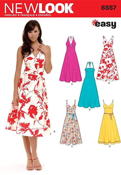 New Look 6557 Size A Misses\' Dresses Sewing Pattern, Multi-Colour ...