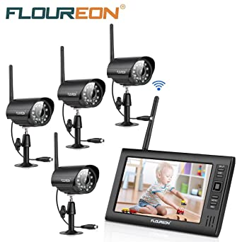 FLOUREON DVR Video Kit de vigilancia (8CH 1080N AHD HDMI DVR + 4 * 1080P