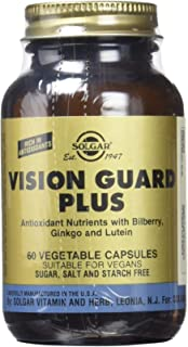 Solgar Vision Guard Plus. Fórmula antioxidante con vitamina C, arándano, ginkgo y luteína