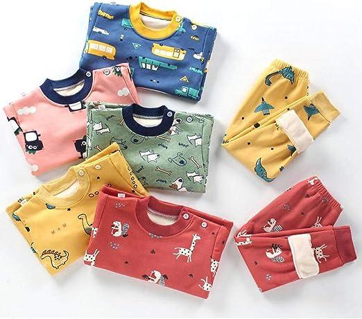 DEBAIJIA Bebé Ropa de Casa 0-8T Infantil Homewear Niños Pijama Niña Ropa de Dormir Niño Camisones Ropa Interior Calentar