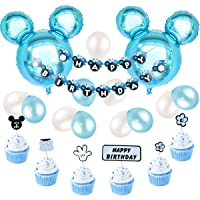 Minnie y Mickey decoraciones de fiesta con globos