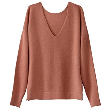 467c70cd4b9 La Redoute Collections Womens Pure Cashmere V-Neck Jumper/Sweater at ...