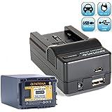 Bundlestar Akku Ladegerät 4 in 1 inkl. Ladeschale + PATONA Qualitätsakku für Canon BP-828 (echte 2670mAh!) passend zu -- Canon XA10 XA20 XA25 XA30 LEGRIA HF G30 G25 G20 G10 M30 M31 M32 M36 M40 M41 M300 M301 M400 S10 S11 S1400 und viele mehr.... -- NEUHEIT mit Micro USB-Anschluss