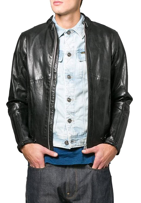 Laverapelle Men's Lamb Skin Real Leather jacket Black- 1510649