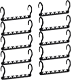 HOUSE DAY Sturdy Plastic Space Saving Hangers Cascading Hanger Organizer Pack of 12 Closet Space Saver Multifunctional…