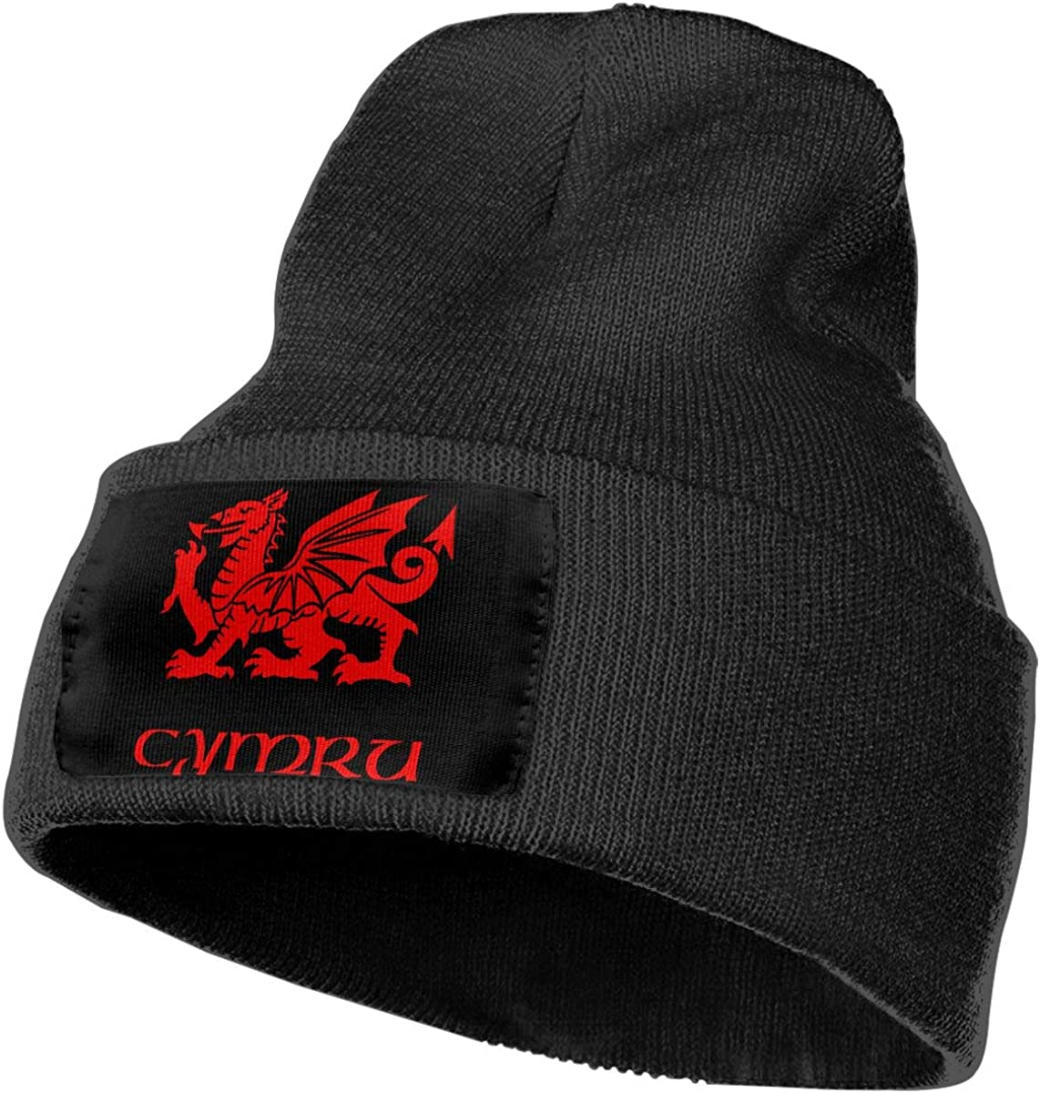 Wales Welsh Dragon Men/&Women Warm Winter Knit Plain Beanie Hat Skull Cap Acrylic Knit Cuff Hat
