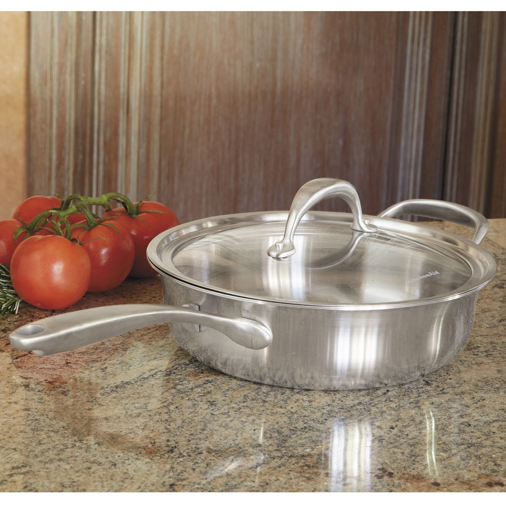 Amazon.com: KitchenAid KCC15PLST Copper Core 1.5-Quart Saucepan ...
