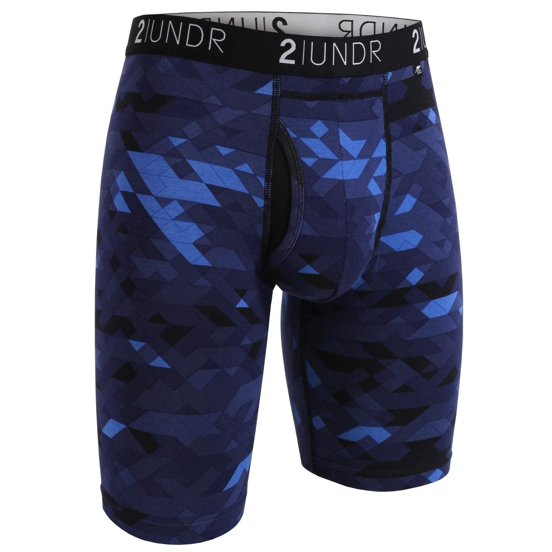 2UNDR Mens Swing Shift 9 Long Leg Boxers Underwear