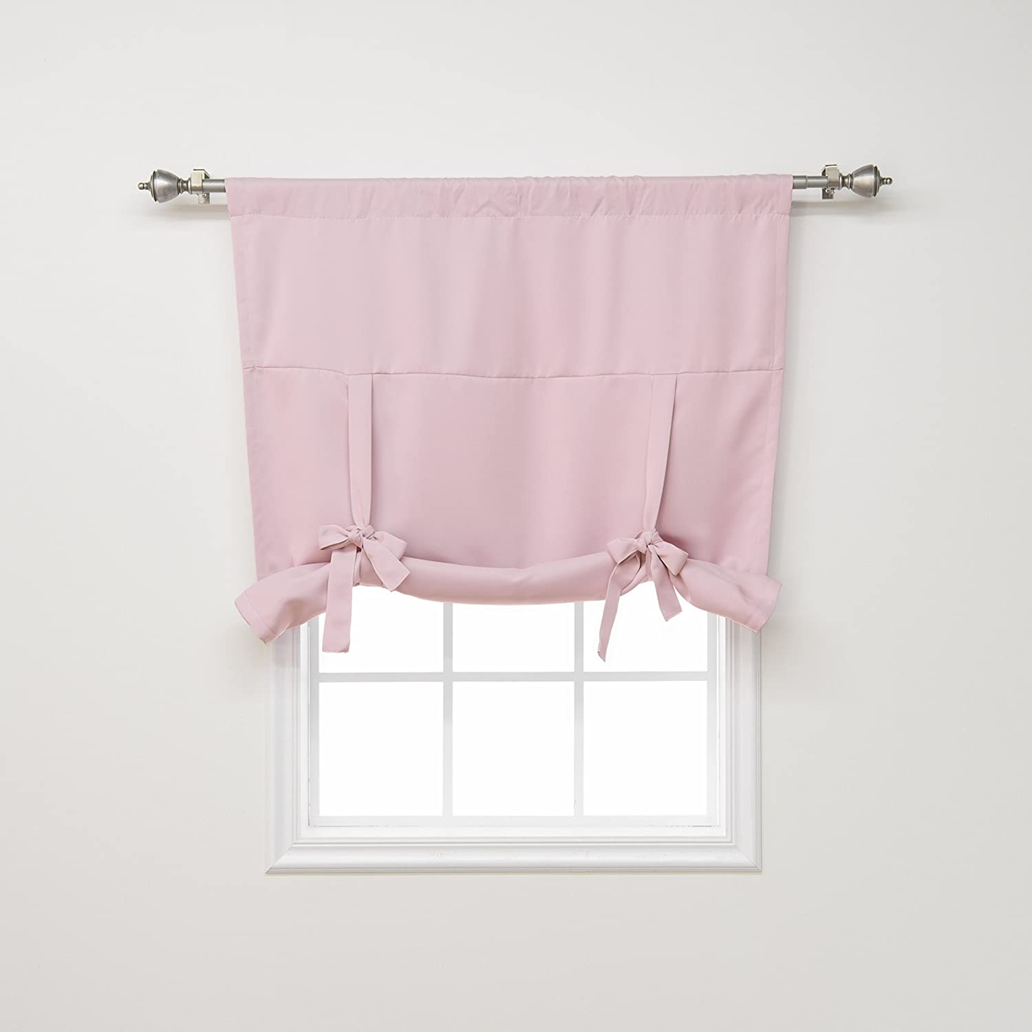 Best Home Fashion Premium Thermal Insulated Blackout Tie-Up Window Shade - Light Pink - 42