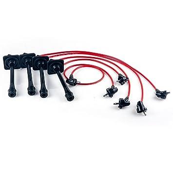 Bujía de encendido juego de cables para 92 - 96 97 Toyota Camry, Celica, MR2 RAV4 2.2L: Amazon.es: Coche y moto