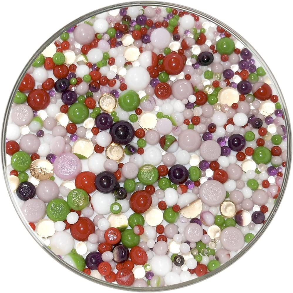 New Larger 1oz Size Azaleas Designer Collection Mix Frit Balls Made from System 96 Glass 96COE