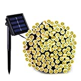 Amazon Price History for:Dcoo Solar Powered Waterproof String Lights for Outdoor Patio Lawn Landscape Fairy Garden Home Wedding Holiday Christmas Party and Xmas Tree Decorations[72feet-200LED-Warm White]