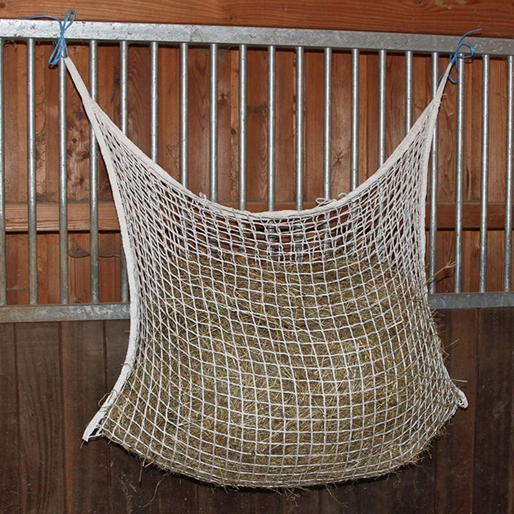 Dengofng - Bolsa de Malla para Remolque con Caballo no es Necesario para curvar bajo la Cabeza 35,4 x 47,2 Pulgadas, Blanco, Talla Abierta