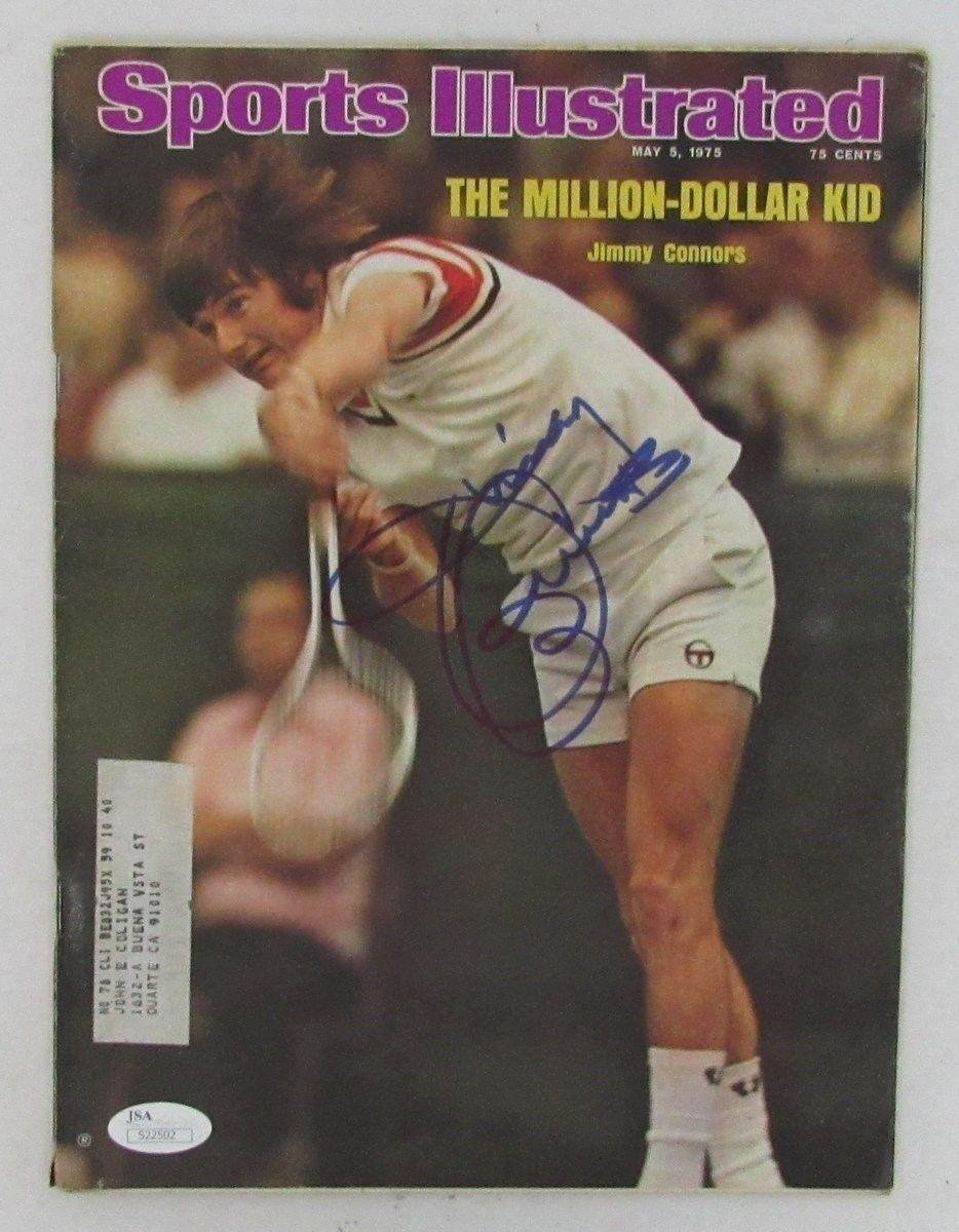 Jimmy Connors Autographed/Signed Sports Illustrated Magazine 5/5/75 130398 Autographed Tennis Magazines