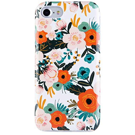 best website c04df c391d Dimaka Case for iPhone 7 and iPhone 8, Floral Flower Cute Case, Dual Layer  Covers for Girls, Sturdy and Protective Bumper for Apple iPhone 7 and 8 ...