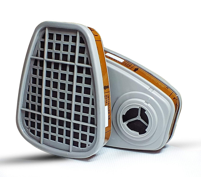 SET DE RECAMBIO UNIVERSAL Filtros Carbón Activo Para GOMOOY Máscara Antigas Gases | Respirador Protección Respiratoria Para Pintura Aerosol Antipolvo Productos Quimicos Trabajo Mascarilla Gas |