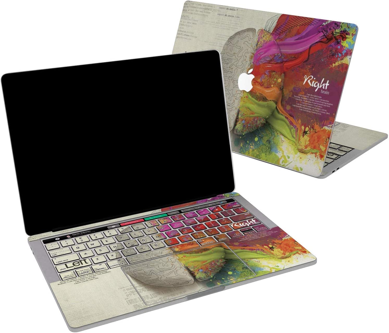 Lex Altern Vinyl Skin for MacBook Air 13 inch Mac Pro 16 15 Retina 12 11 2020 2019 2018 2017 Brain Sides Left Right Cute Colorful Nerd Creative Sticker Protective Print Wrap Cover Keyboard Decal