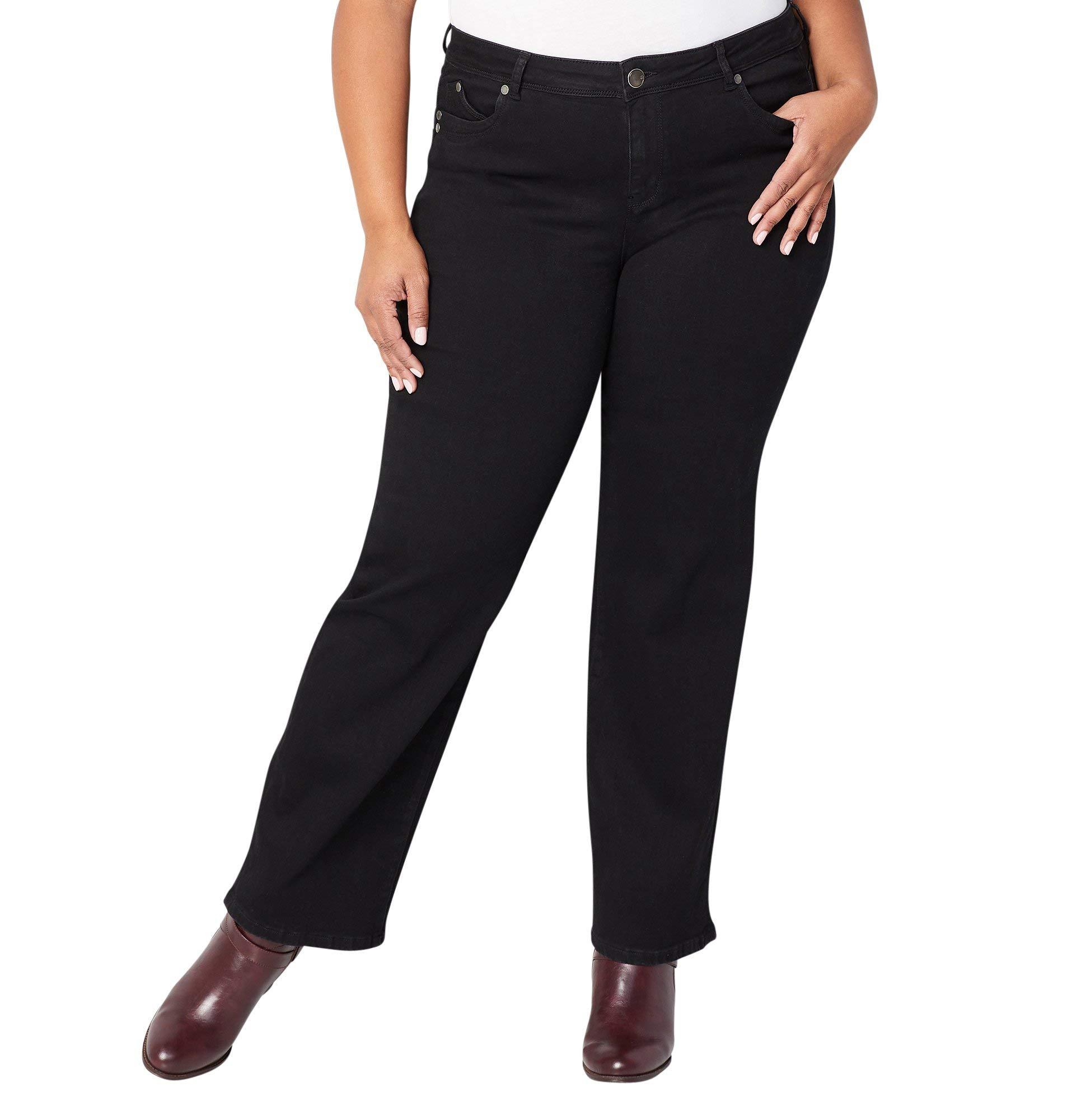 Avenue Women's Wanna Betta Butt Bootcut Jean in Black, 18 Black