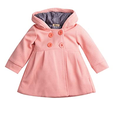 896eafd70356 Baby Toddler Girls Fall Winter Trench Coat Wind Hooded Jacket Kids  Outerwear  Amazon.ca  Baby