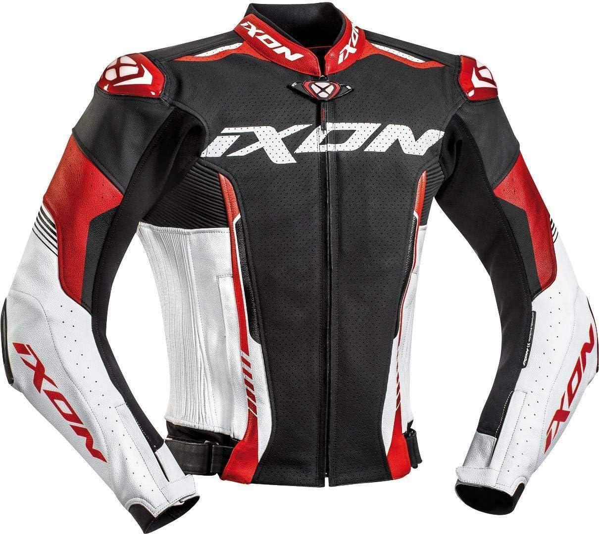 3XL Ixon Blouson moto Vortex 2 Jkt NOIR//BLANC//ROUGE Noir//Blanc//Rouge