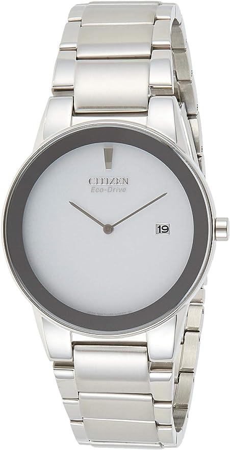 【デッドストック/アウトレット品】CITIZEN(シチズン) AU1060-51A Eco-Drive/エコドライブ Axiom シルバー メタルベルト メンズウォッチ 腕時計 [並行輸入品]