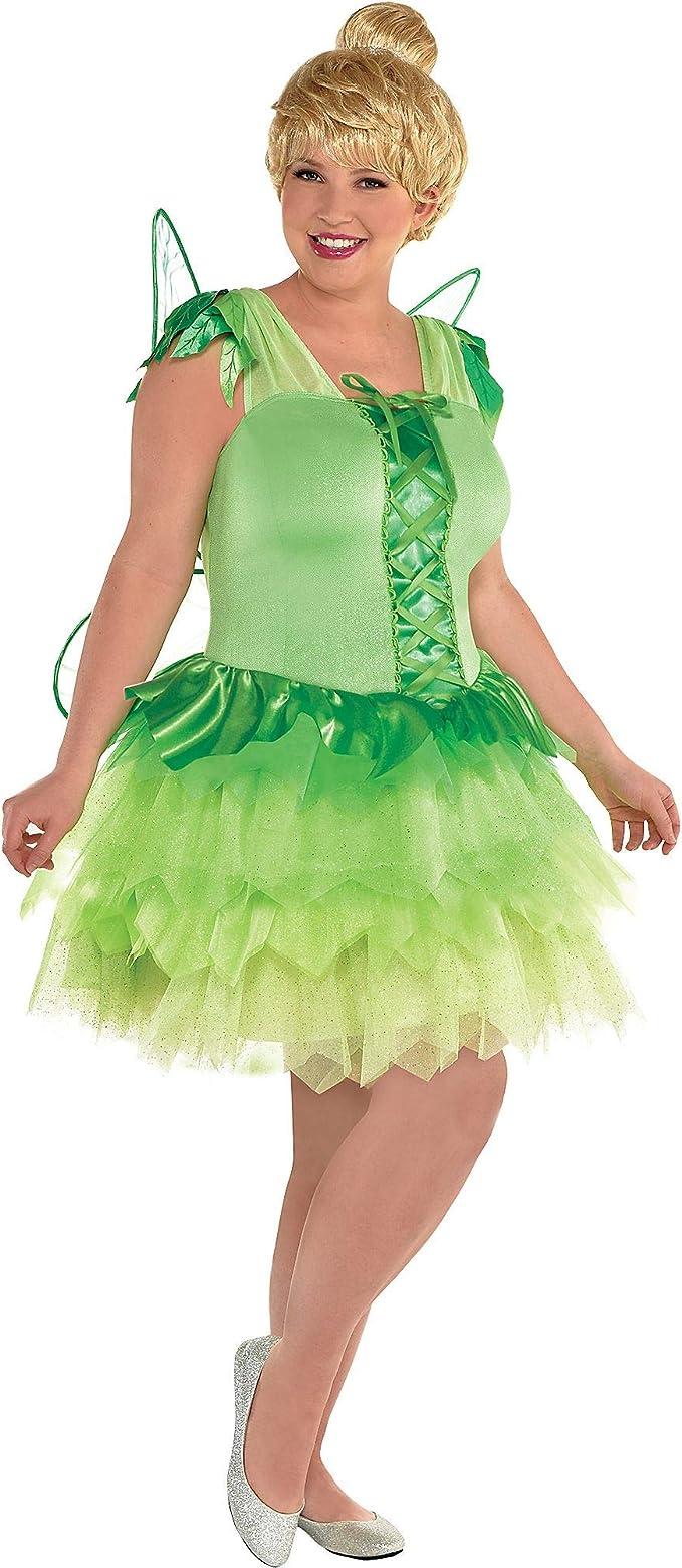 Disfraz de Peter Pan Tinker Bell para Mujer, Talla Grande, Incluye ...