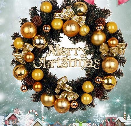 Decorazioni Natalizie Acquisto On Line.Hysxm 80cm Decorazione Per Albero Di Natale Decorazione Per Porta Di Natale Gioielli Appesi Sfere Per L Acquisto Archi Corona Di Natale Decorazioni Natalizie Oro Amazon It Casa E Cucina
