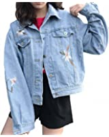 Embroidery Short Denim Jacket For Women Long Sleeve Elegant Female Bomber Jacket Coats Spring Casacos Chaquetas
