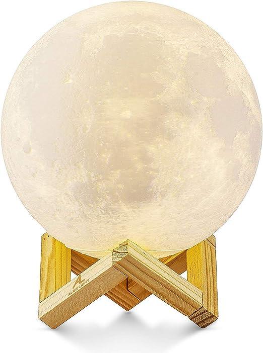15cm Mond Lampe Nachtlampe 3D Mondlicht, ALED LIGHT 3 Farbe ...