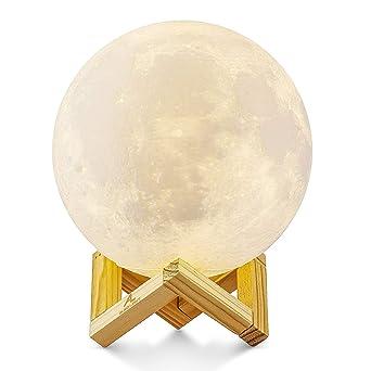 Stimmungslicht Schlafzimmer | Grosser 15cm Mond Lampe Nachtlampe 3d Mond Lampe Mondlicht Aled