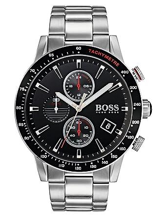 ab9635038586 Hugo BOSS Reloj Cronógrafo para Hombre de Cuarzo con Correa en Acero  Inoxidable 1513509  Amazon.es  Relojes