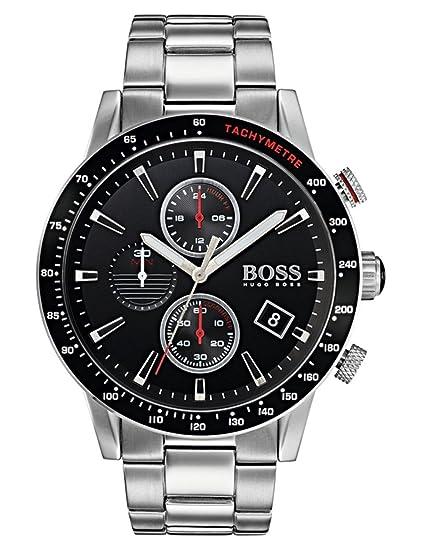 Hugo BOSS Reloj Cronógrafo para Hombre de Cuarzo con Correa en Acero Inoxidable 1513509