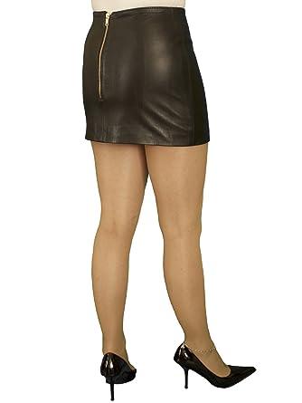 717f5751f7dd Ashwood for Tout Ensemble Black Luxury Leather Micro Mini Skirt (12 inch  Length)  Amazon.co.uk  Clothing