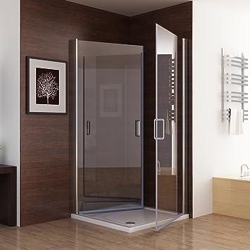 Duschkabine Dusche Duschwand 180° Schwingtür Eckeinstieg NANO Glas 80 x 80  x 195cm