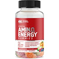 Optimum Nutrition Amino Energy Gummies with Amino Acids, Pre Workout/Post Workout Supports Focus, Muscle Recovery…