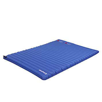 kingcamp light double size outdoor camping air mattress mat pad bed with builtin foot