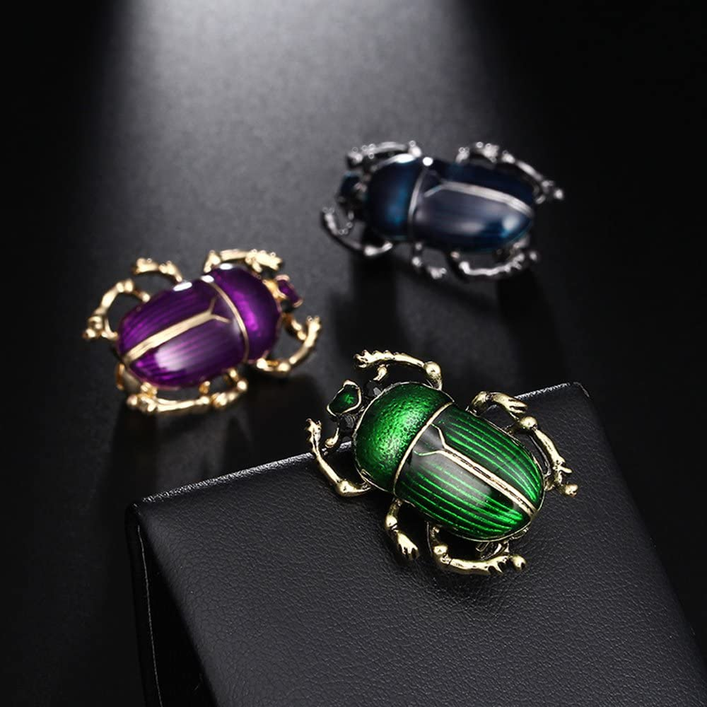 MINGHUA Retro Beetle Collar Brooches Insect Lapel Pin for Boys Girls Clothing Decorations