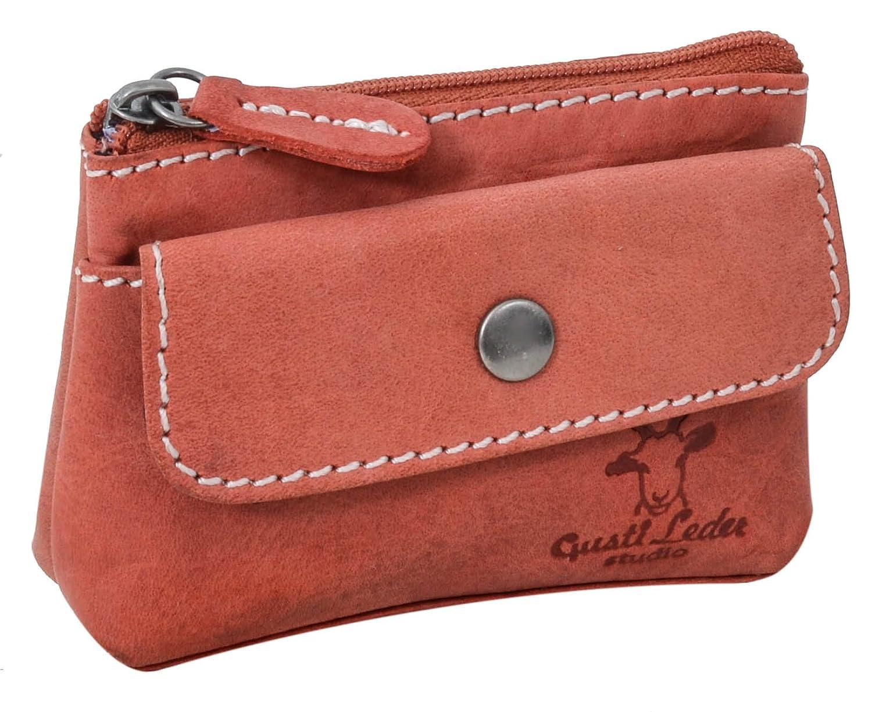 'Gusti Leather Studio Sascha Purse Mini Leather Key Wallet Purse Key Case Key Bag Buffalo Leather Key Wallet Key Ring Wallet Vintage Red 2A9122–10 Gusti Leder 2A91-22-10