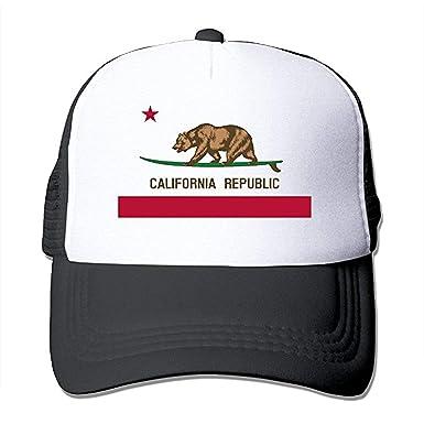DIYoDGG California Flag Bear Cute Baseball Cap Trucker Mesh Hat: Amazon.es: Ropa y accesorios