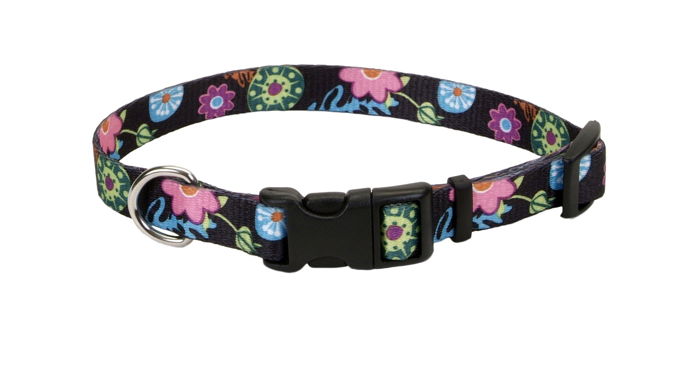 Pet Attire® Styles Adjustable Dog Collar, Wild Flower Pattern, 5/8'' x 10-14'' by Pet Attire®