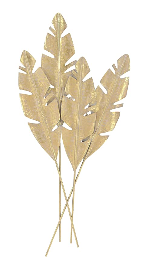 Amazon.com: Deco 79 74837 Metal Wall Decor, Gold: Home & Kitchen