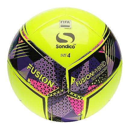 Official Sondico Fusion FIFA - Balón de fútbol, Size 5, Amarillo ...